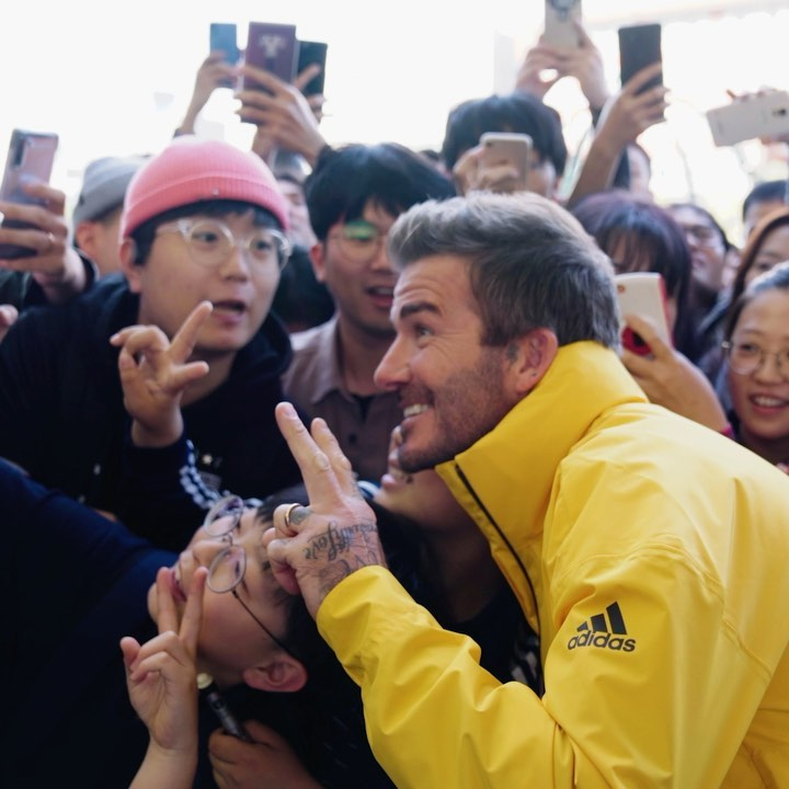 David Beckham Instagram: Thanks so much to everyone who came out to say hello and to  for having me. Grea...