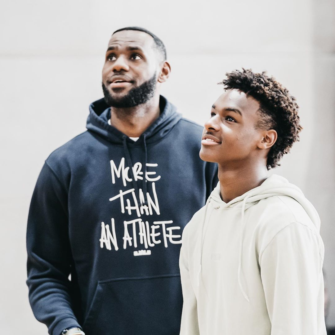 LeBron James Instagram: Happy Born-Day Young !! You continue to make me proud to say you're my son/I'm y...