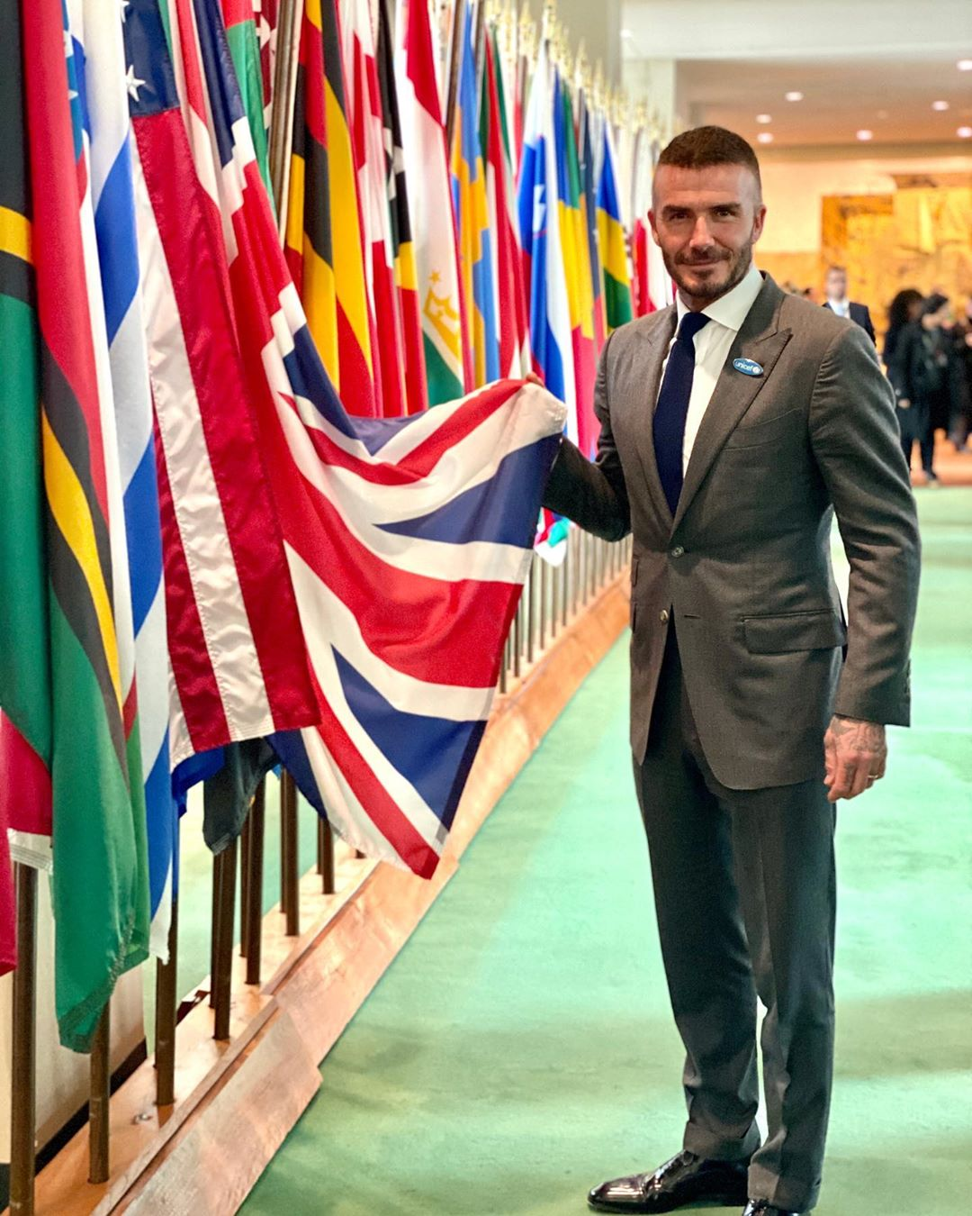 David Beckham Instagram: Today, I am honoured to be in New York with  to mark World Children's Day. I had...