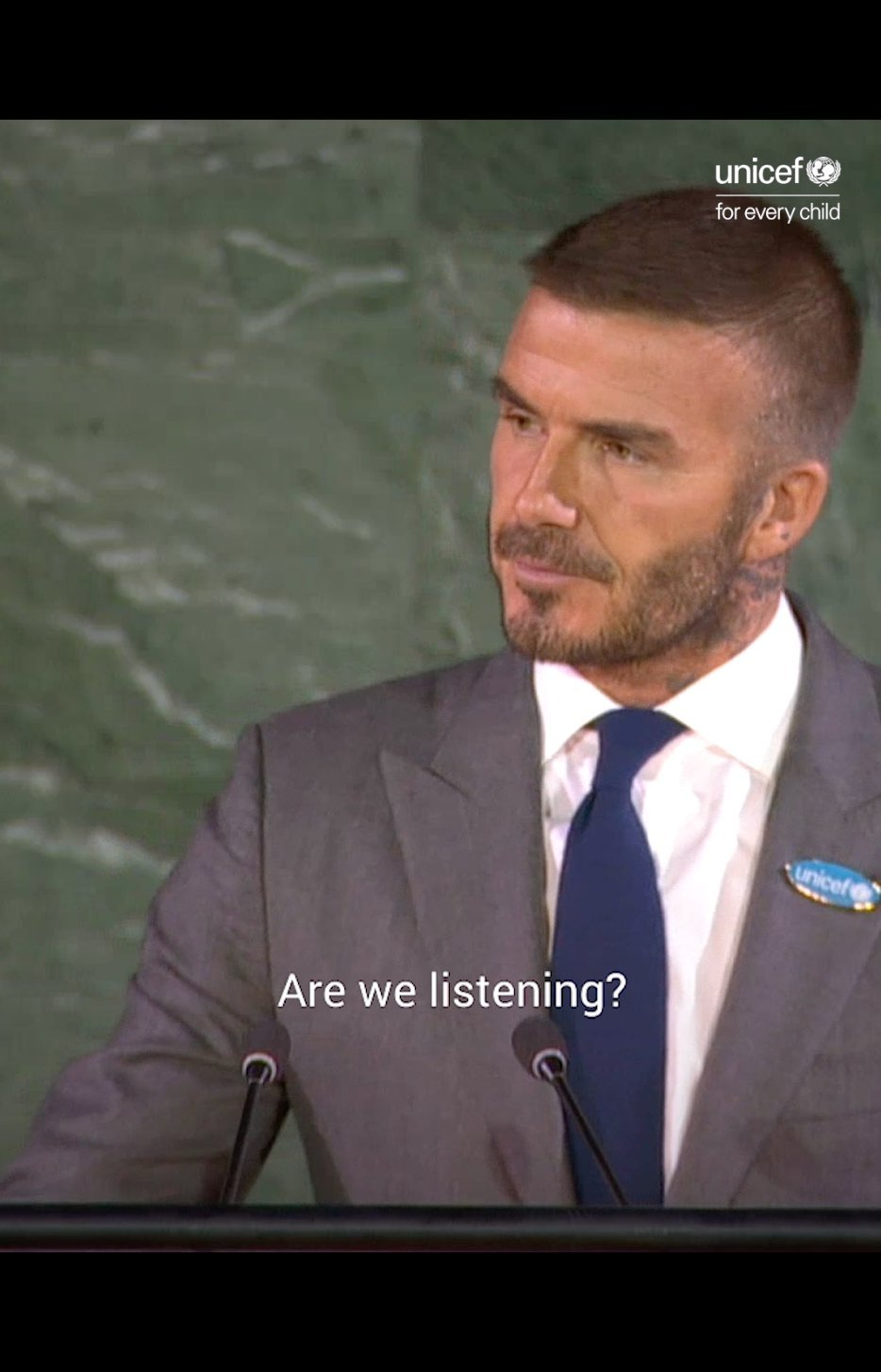 David Beckham Instagram: but so inspiring to be at the UN with UNICEF for World Children's Day.  ...