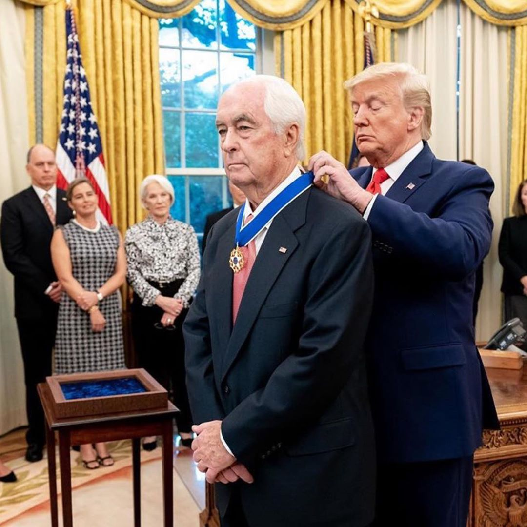 Donald J. Trump Instagram:   ・・・ From racing to business to philanthropy, Roger Penske has moved from one g...