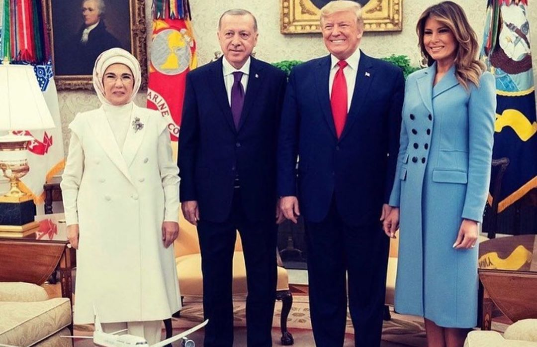Donald J. Trump Instagram:   ・・・ Great to welcome the President of the Republic of Turkey and Mrs. Erdogan ...