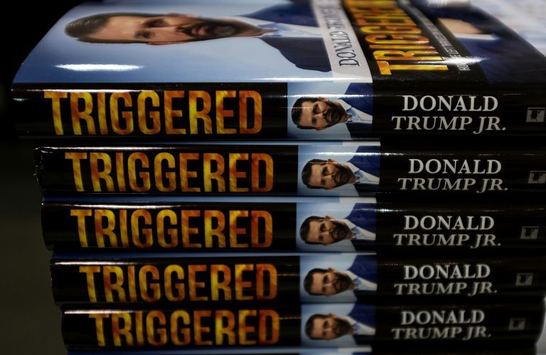 """Donald J. Trump Instagram: Just finished reading my son Donald's just out new book, """"Triggered."""" It is real..."""