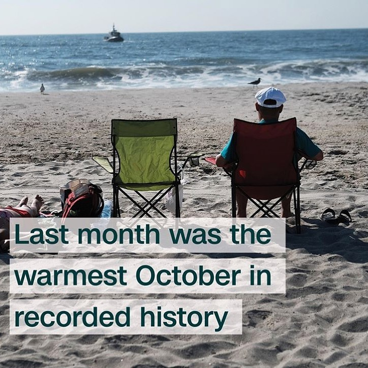 Leonardo DiCaprio Instagram:    October 2019 was the warmest October ever, according to data from the Europea...