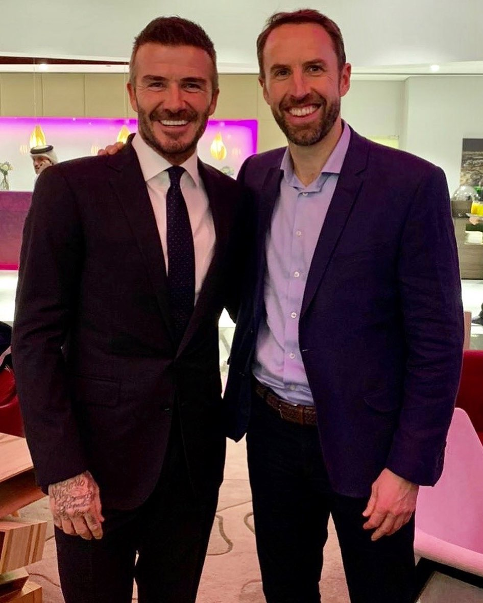 David Beckham Instagram: Always great to see Gareth, a good friend and former  teammate ...