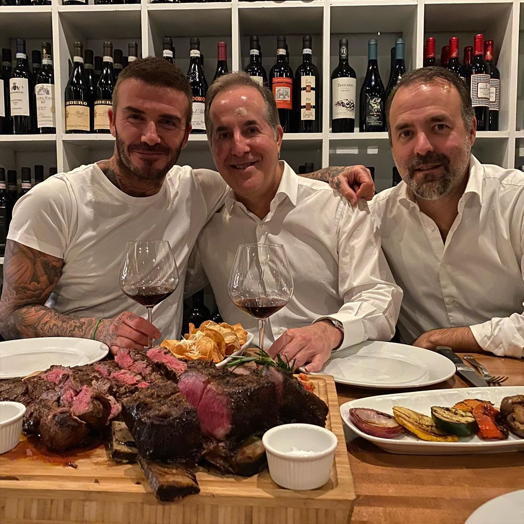 David Beckham Instagram:  !!!! Less than 3 months away from our first game, great dinner at Graziano's wi...