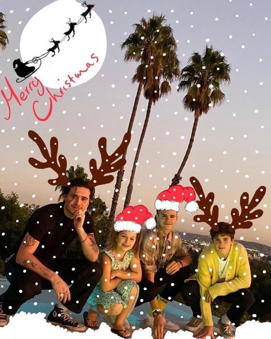 David Beckham Instagram: Merry Christmas from our babies        design by Daddy...