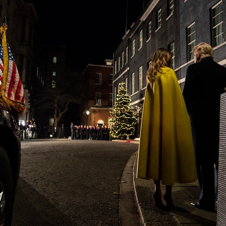 Donald J. Trump Instagram: President Donald J. Trump and First Lady Melania Trump arrive to No. 10 Downing ...