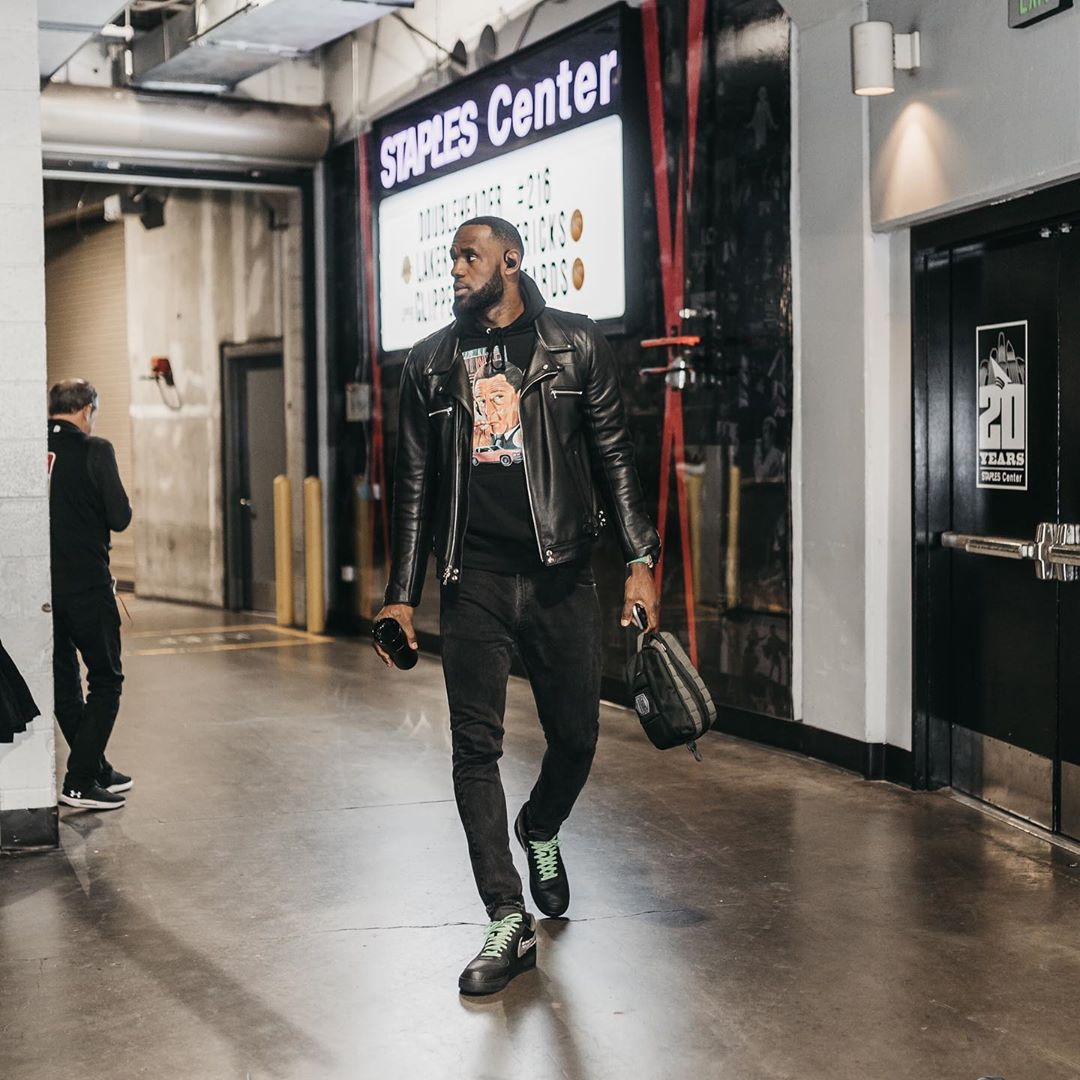 LeBron James Instagram: Game Day! The calm before the . Please get to safety and prepare for what's comi...