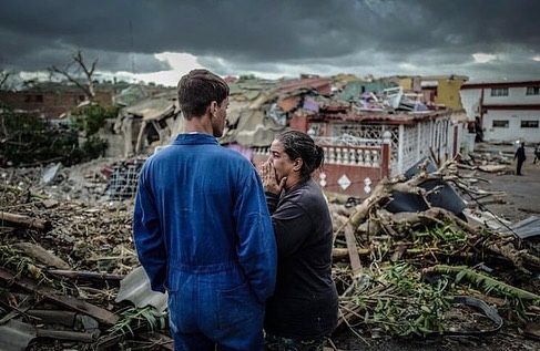 "Leonardo DiCaprio Instagram:    ""This is climate chaos - what it actually looks like."" - Tim Gore, Oxfam's cl..."