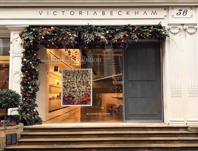 Victoria Beckham Instagram: This holiday season, I'm so happy to have a very special installation in my stor...