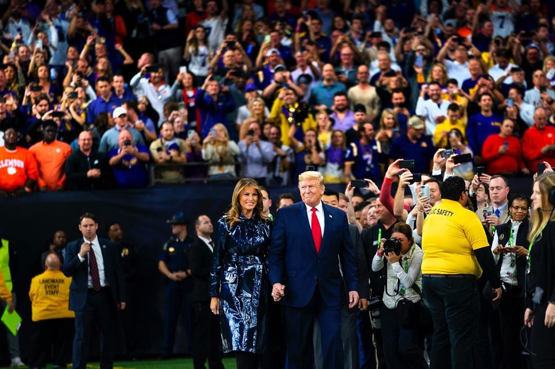 Donald J. Trump Instagram: Via Doug Mills, NY Times  &  walk onto the field to sing the National Anthem at ...