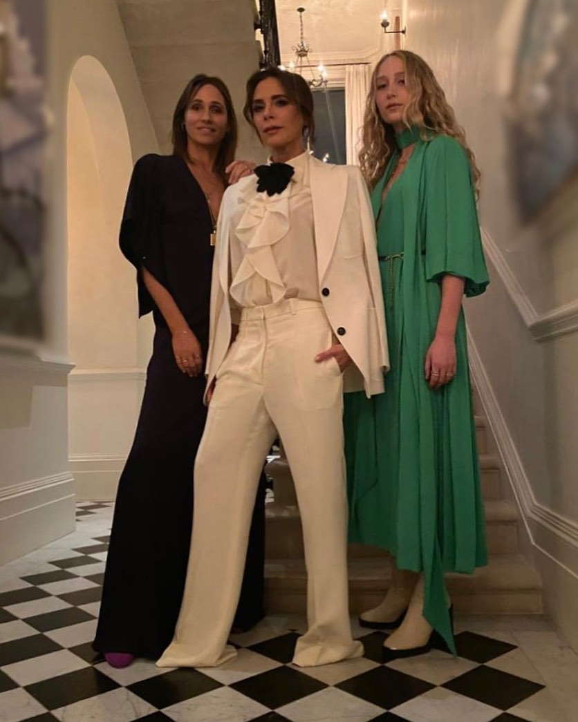 Victoria Beckham Instagram: Charlie's angels?  Night out with   Wearing my new  collection, launching next w...