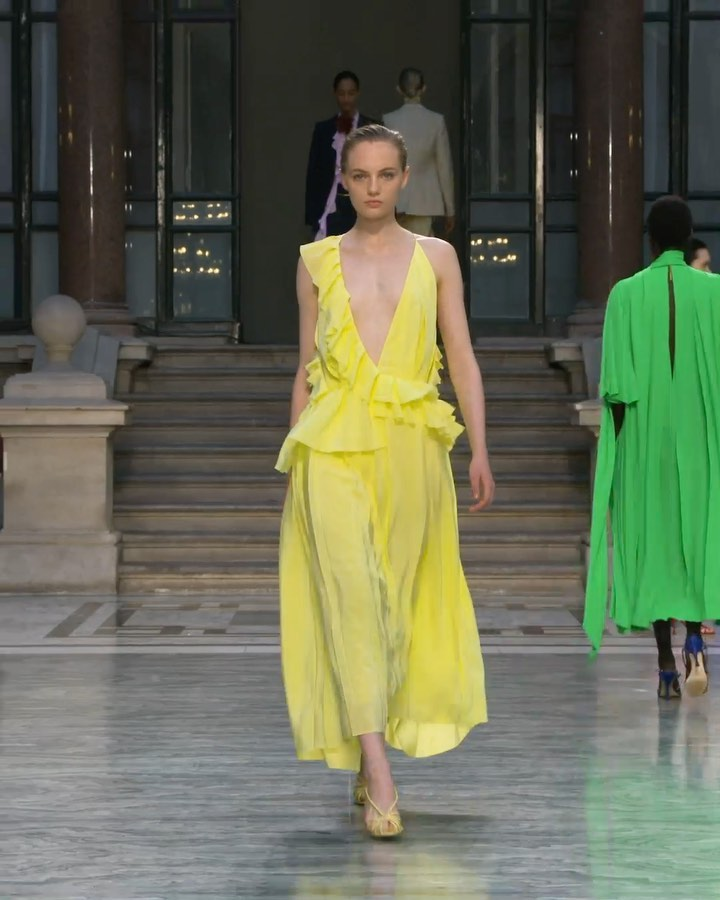 Victoria Beckham Instagram: Fresh colours and fluid silhouettes in motion.  x...