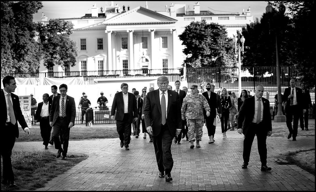 "Donald J. Trump Instagram: "" walks from the White House to the Historic St. John's Church that was damaged ..."