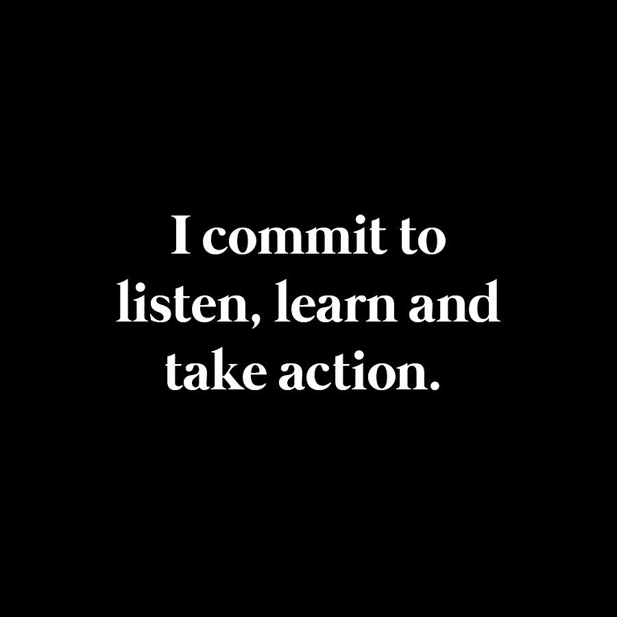 Leonardo DiCaprio Instagram: I commit to listen, learn and take action.  I am dedicated to end the disenfranc...
