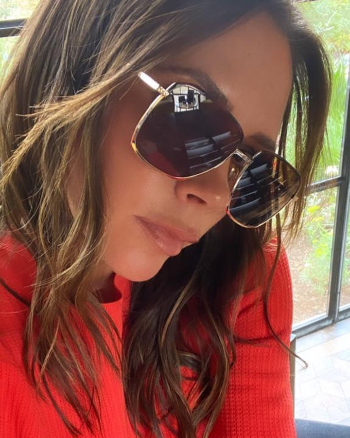 Victoria Beckham Instagram: Another sunny morning. Love these Enamel Navigator frames from  ...
